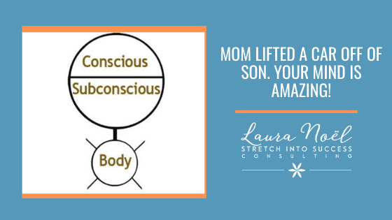 Mom lifted a car off of son.  Your mind is amazing!